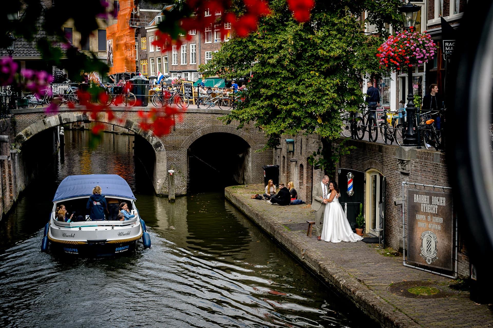 rondvaart boot in Utrecht hartje Utrecht